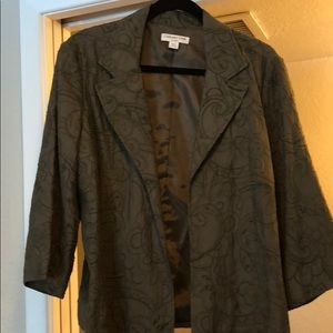 Coldwater Creek Sz L Blazer in darker olive green